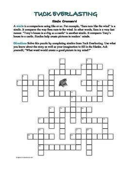 Tuck Everlasting: Simile Crossword—All Clues Are Similes!
