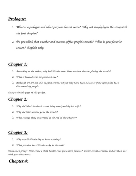 Tuck Everlasting Student Comprehension Packet