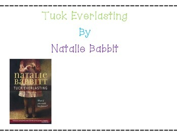 Tuck Everlasting Student Lapbook