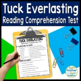 Tuck Everlasting Test: Final Book Quiz with Answer Key