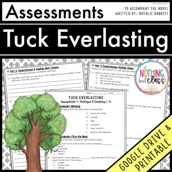 Tuck Everlasting: Tests, Quizzes, Assessments