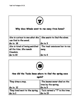 Tuck Everlasting Trail Review Game