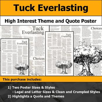 Tuck Everlasting - Visual Theme and Quote Poster for Bulletin Boards