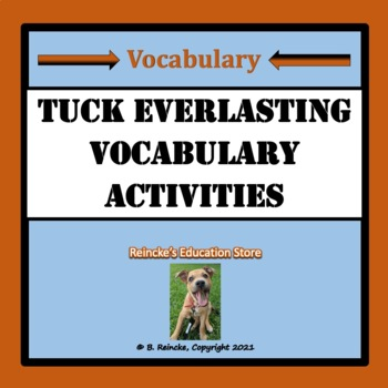 Tuck Everlasting Vocabulary Activities