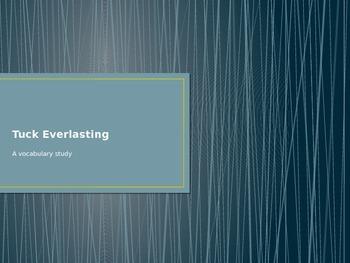 Tuck Everlasting Vocabulary Powerpoint