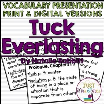 Tuck Everlasting Vocabulary Presentation