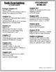 Tuck Everlasting Vocabulary Word List