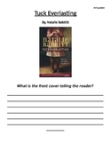 """""""Tuck Everlasting"""" Vocabulary and Reader's Response Questions"""