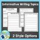 Tuck Everlasting Writing Activities