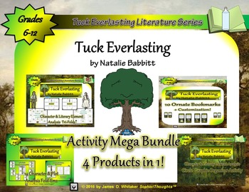 Tuck Everlasting by Natalie Babbitt Activity Mega Bundle