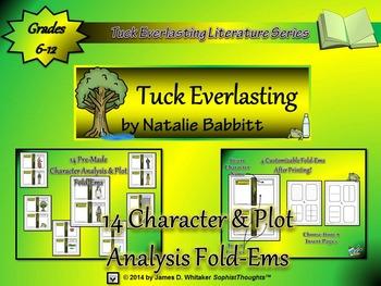 Tuck Everlasting by Natalie Babbitt Character & Plot Analysis Fold-Ems