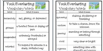 Tuck Everlasting by Natalie Babbitt (Novel Unit Package)