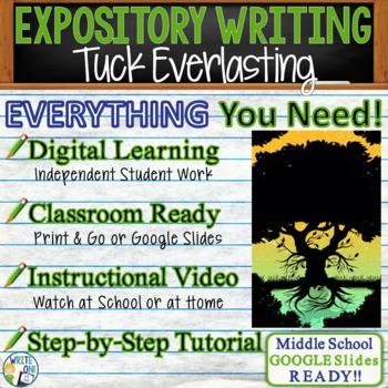 Tuck Everlasting by Natalie Babbitt - Text Dependent Analysis Expository Writing