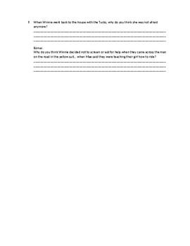 Tuck Everlasting quiz ch. 6-10