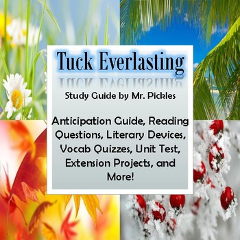 Tuck Everlasting lesson plans, study guide and reading questions