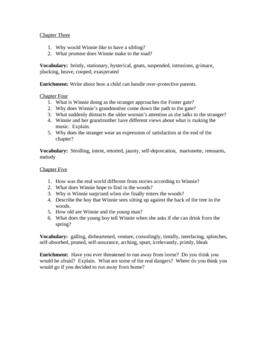 Tuck novel study