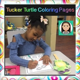 Tucker Turtle: Youth Coloring Pages
