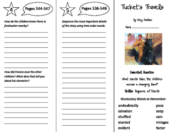 Tucket's Travels Trifold - Journeys 5th Grade Unit 5 Week 1 (2011)