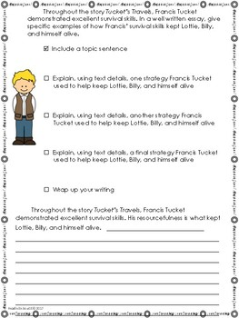 Tucket's Travels-Writing Prompt-Journeys Grade 5-Lesson 21