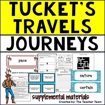 Tucket's Travels Journeys 5th Grade Unit 5 Lesson 21 Activities and Printables