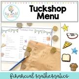 Tuckshop / Canteen Menu