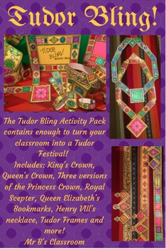 Great History Activites! 22 Pages! Crown The King & Queen! Instant Art & Costume