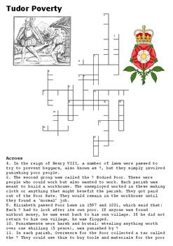 Tudor Poverty Crossword