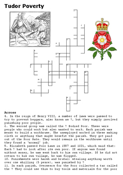Tudor Poverty Crossword