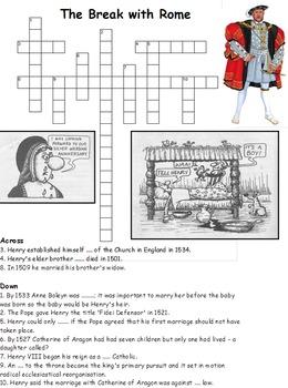 Tudor and Stuart Crossword Pack of 11