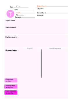 Tuesday English Lesson Plan Template