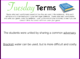 Tuesday Terms Morning/Bell Work PP - FULL YEAR!
