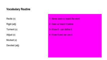 Tuesday of the Other June Vocabulary Code 6th Grade X Unit
