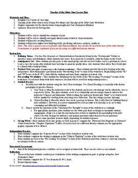 Lesson: Tuesday of the Other June by Norma F. Mazer Lesson Plan, Worksheets, Key
