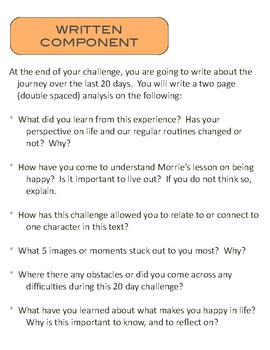 Tuesday's With Morrie - Creative Writing