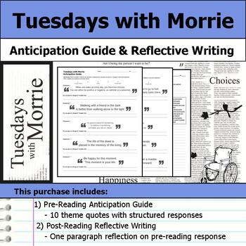 Tuesdays with Morrie - Anticipation Guide & Reflection