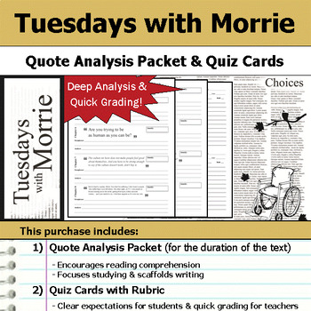 Tuesdays with Morrie - Quote Analysis & Reading Quizzes