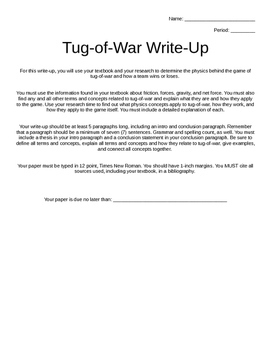 Tug-of-War Physics Lab