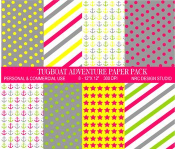 Tugboat Adventure Paper Pack