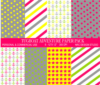 Tugboat Adventure Paper Pack