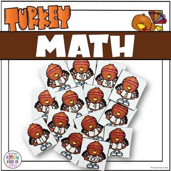 Turkey Kindergarten Math and Literacy Work Station Activities