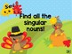 Turkey Time Stand and Sit Game – Singular and Plural Nouns