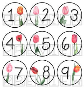 Tulip Calendar Numbers