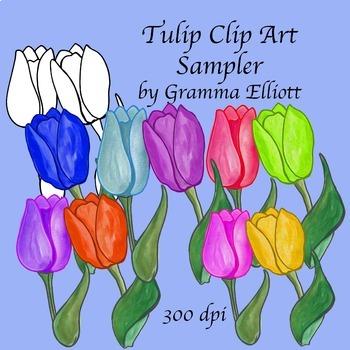 Tulip Clip Art Sampler