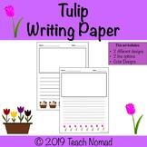 Tulip Flower Writing Paper