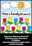 Tulip Flowers - Bulletin Board Set / Classroom Door Decora