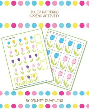 Tulip Patterns - Spring Activities {FREEBIE}