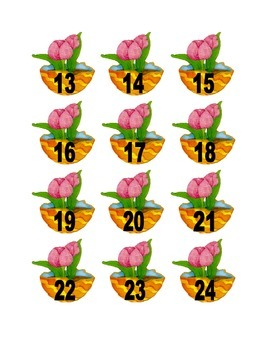 Tulip in Easter Egg Numbers for Calendar or Counting Activity