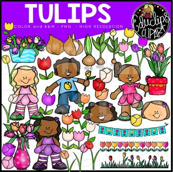 Tulips Clip Art Set {Educlips Clipart}