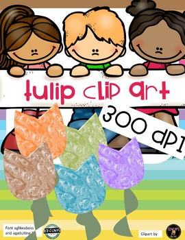 Tulips ClipArt- 5 designs - 300 DPI
