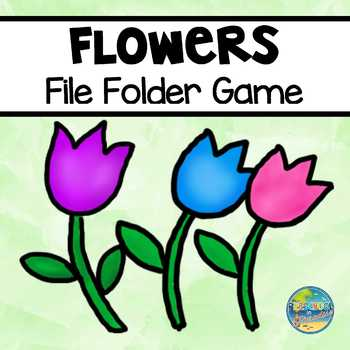Tulips File Folder Game--Matching Colors